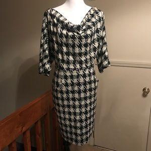 ♠️ Plus Size Houndstooth Print Dress ♠️